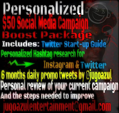 Jugo Azul offers assistance with your social media campaigns and offers 6 months twitter promo